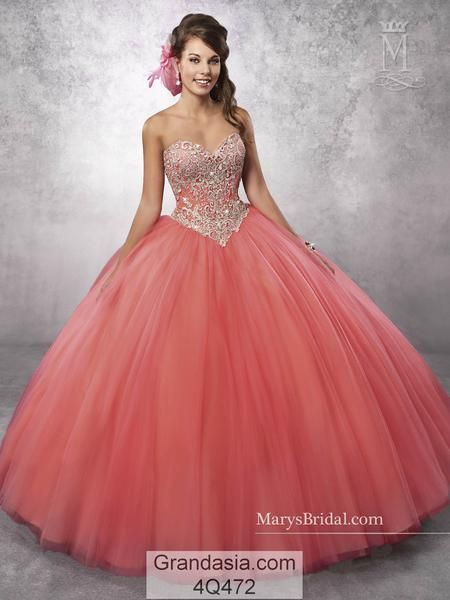 20e8929d884 Mary s 4Q472 Quinceanera Sweet 15 Sweet 16 Quinceañera Dress Ball Gown.  Detachable straps