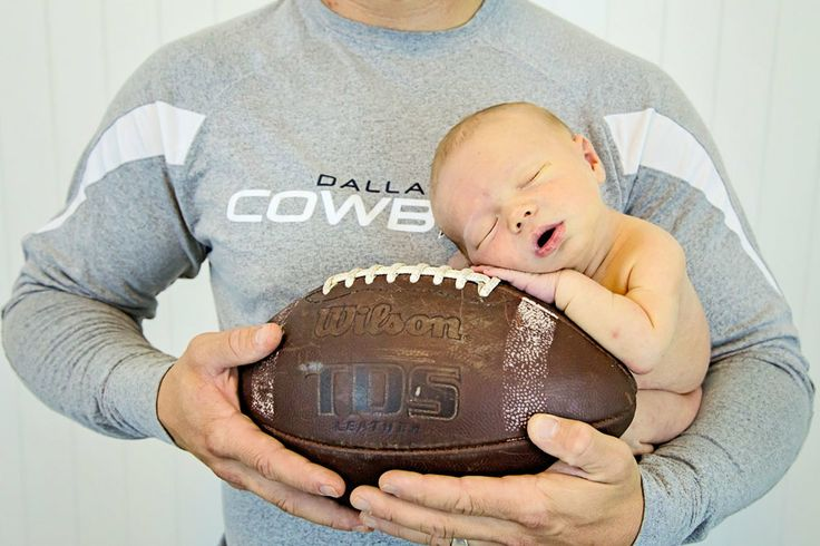Newborn Dallas Cowboys fan in Charlotte, NC. Such a sweet baby boy. Football Newborn pose.  #charlotte #newborn #photographer