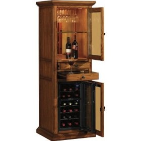 wooden meridian wine curio with inbuilt wine cooler home interior design themes wine cabinets