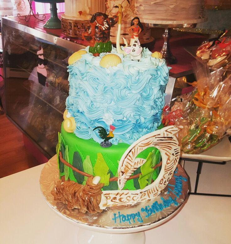 Moana Themed Birthday Cake With Maui S Hook Www Facebook