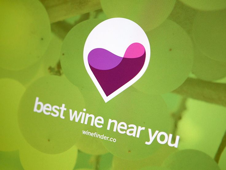 Logo mark for WineFinder.co Wine / Heart / Pin  I know, I know that heart is a little drunk ;P  Follow me on Twitter