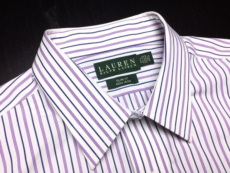 1000 images about designer clothing fans store on for Purple striped dress shirt