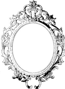 Cadre baroque petit format cadre pinterest baroque for Miroir petit format
