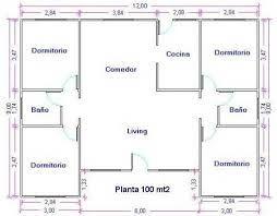 Resultado de imagen de planos de distribucion casas de 4 dormitorios y 2 baños