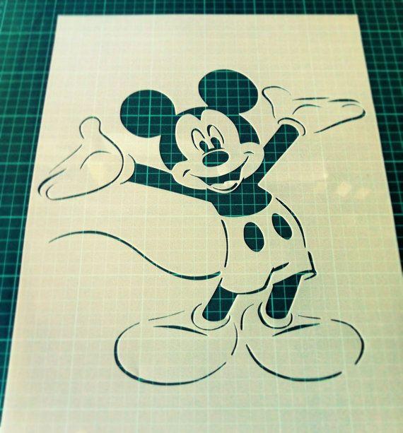 Disney Mickey Maus wiederverwendbare Schablone für von CreateCuts