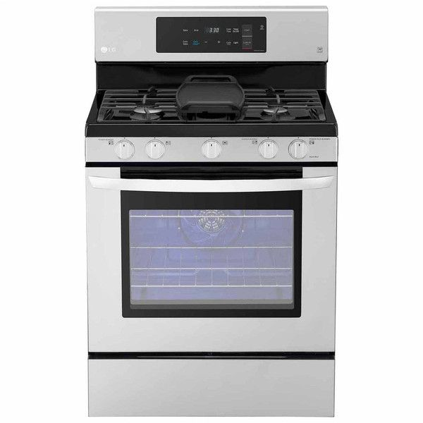 "LG 5.4 cu. ft. Capacity Gas Single Oven Range with EvenJet"" Fan... ($749) ❤ liked on Polyvore featuring home, home improvement and household appliances"