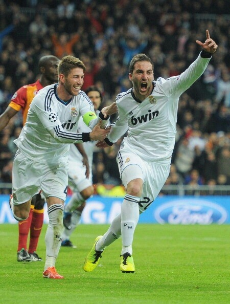 Real Madrid vs Galatasaray | Ramos, Higuain