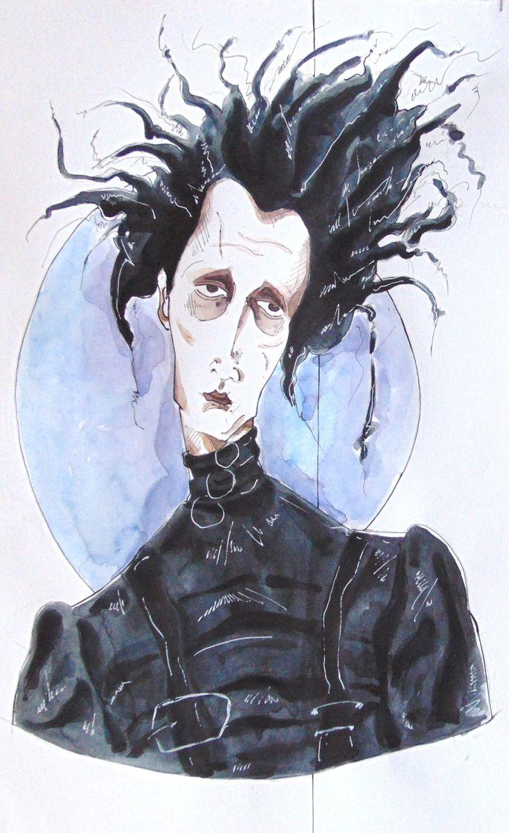 Джонни депп рисунки эдварда руки ножницы