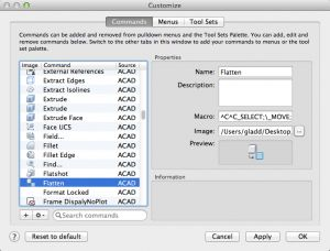 Recreating the FLATTEN Command in AutoCAD for Mac