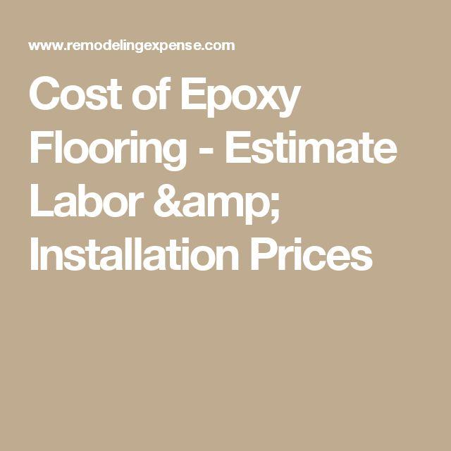 Cost of Epoxy Flooring - Estimate Labor & Installation Prices