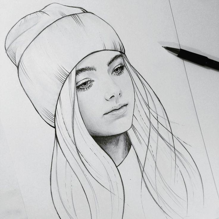 Картинка девочек срисовать