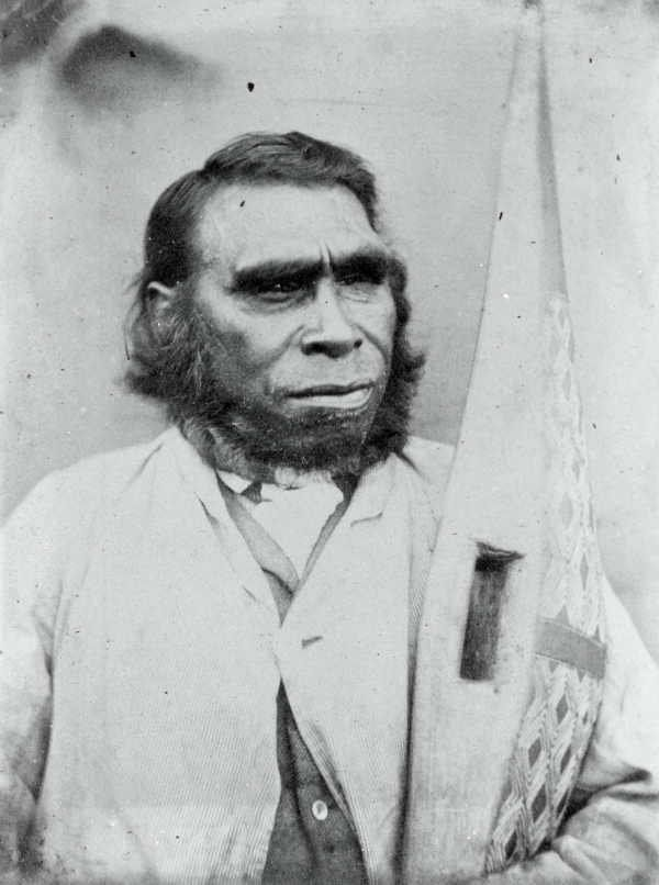 aboriginal Tasmanian man... Not a monkey, not a Neanderthal. Another proof that the arguments regarding the 'evolution of man' is a complete farce.