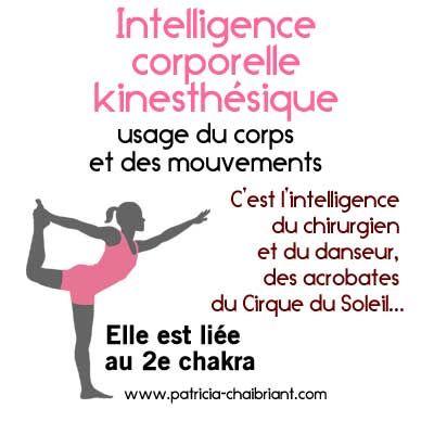 intelligences multiples, définition de l'intelligence corporelle kinesthésique liée au 2e chakra