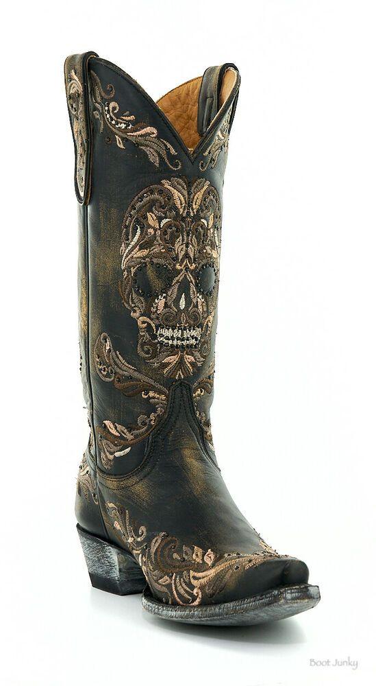 3d6ddb03e9a eBay #Sponsored L3191-1 OLD GRINGO DULCE CALAVERA SKULL BLACK ...