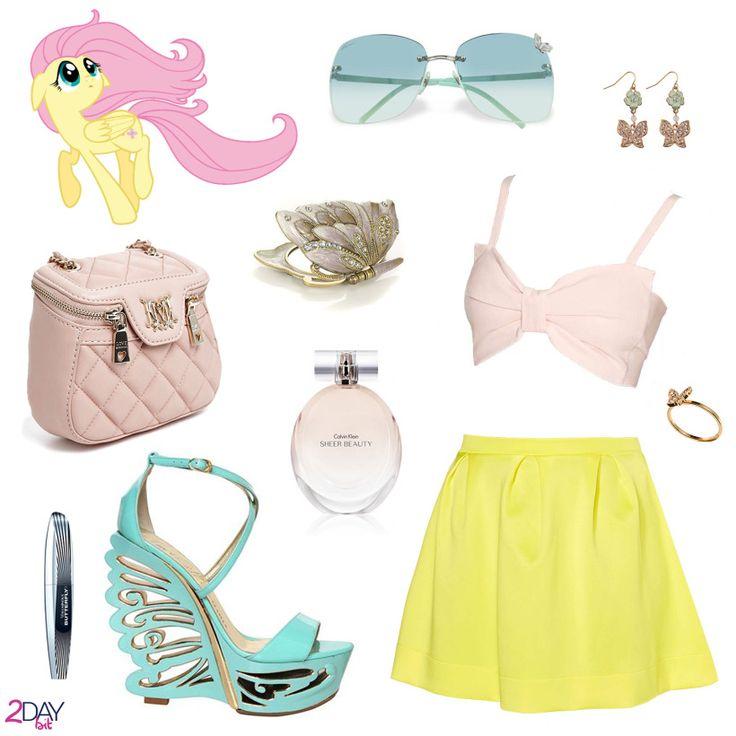 2Daybit - My Little Pony - Fluttershy inspired outfithttp://2daybit.wordpress.com/2014/08/16/fluttershy-outfit-my-little-pony/  #mylittlepony #mlp #fluttershy #moschino #lesilla #gucci