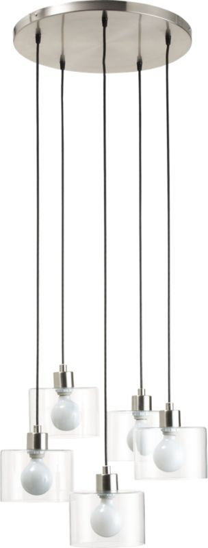 possibility for foyer or even bathroom hallway -  flok pendant lamp in pendant lamps | CB2