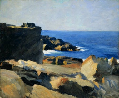 Edward Hopper, Square Rock the straightforward simplicity of Hopper's work gets me everytime with his use of shadows.
