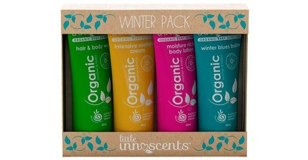 Organic Baby Winter Travel Pack - Made with essential oils that not only smell divine but also effectively treat a range of skin conditions this is perfect for a luxurious gift for the expectant mum or slipping into your nappy bag ideal for travel. Contains: 1 – Hair & Body wash 1 – Intensive Soothing Cream 1 – Winter Blues Balm 1 – Moisturising Lotion
