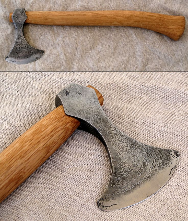 viking adze. head reminds viking age axeheads, and it is pattern welded. this one pretty roughly made because i used some not so g. adze m