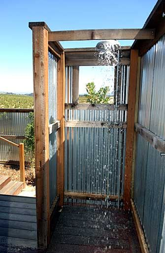 fully enclose it and put rock floor and water pale shower head and it would be a pretty awesome outhouse shower
