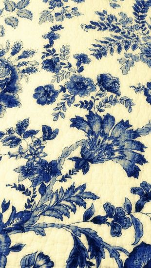 Wallpaper Blue Iphone X Vintage Blue Drawings Fabric Http Theiphonewalls Com