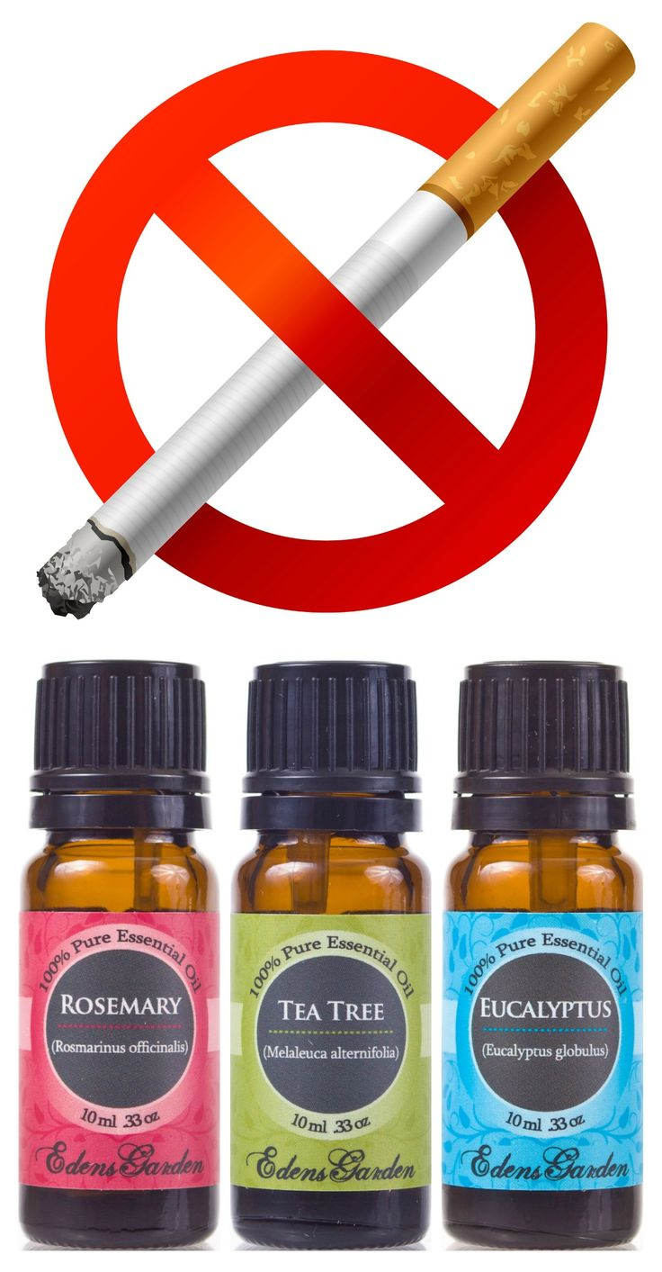 Remove cigarette smoke spray- Put 4 drops each of Rosemary, Tea Tree & Eucalyptus in a spray bottle with water.  Shake well & spray!