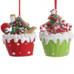Polymer clay cupcake ornaments: Cupcakes Ornaments, Filled Cupcakes, Christmas Decorations, Polymer Clay Cupcakes, Holidays, Fillings Cupcakes, Christmas Ornaments, Christmas Cupcakes, Christmas Trees