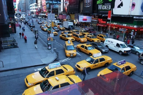 Yellow cabs!