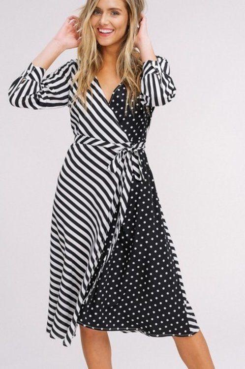 Martha Stripe Wrap Dress  1611b7813