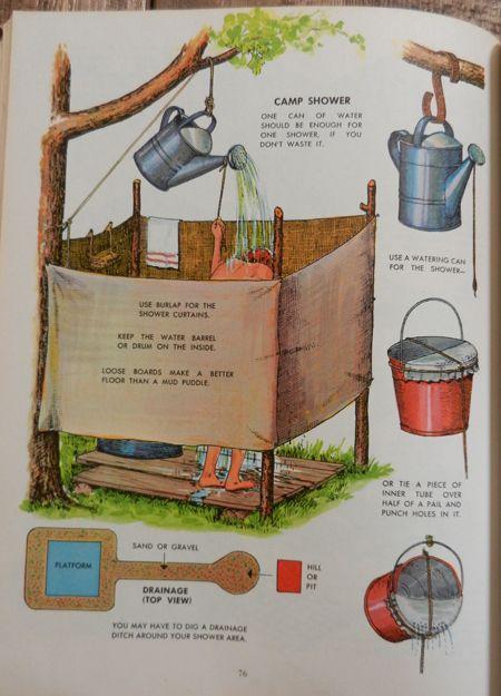 Prysznic - można stać w kolejkach, kupić przenośny albo zrobić samemu :)
