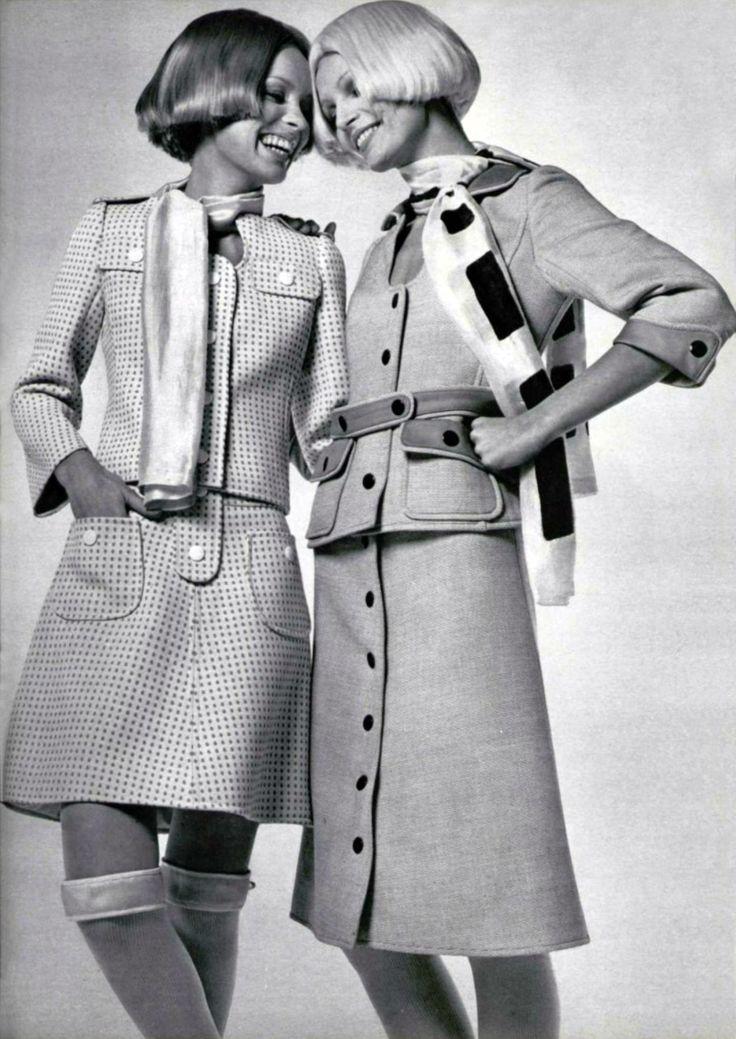 Courrèges 1960s - Love the hair & clothes!