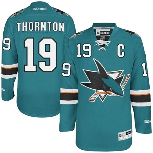 ... Marleau San Jose Sharks Premier Home Jersey - Teal. Find this Pin and  more on Green Joe Thornton Jersey Reebok Throwback   Sharks Ebay Authentic  Jerseys ...