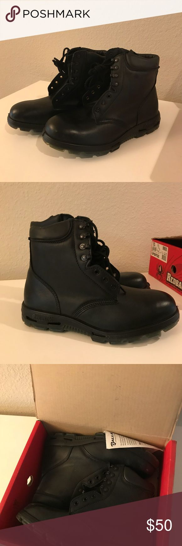 "Mens Redback Boots Patrol 8"" lace up boot in waxy black. Never worn, in perfect condition. NOT a steel toe. Redback Shoes Boots"