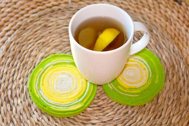 SALE 10% OFF Morning together/Stands for hot felt / Cup coaster / Kitchen decor / Handmade felt  / Felt coasters under hot cup / Set of 2 (11.99 EUR) by HandMadeVinga