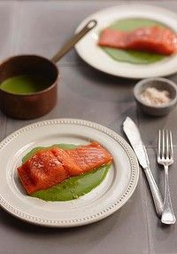 Confit of salmon or ocean trout recipe from Chef Shannon Bennett.