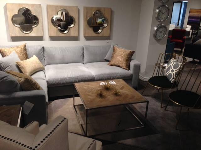 Toronto Showroom 2016 - Warner Coffee Table, Daria Chairs, Clover Mirrors