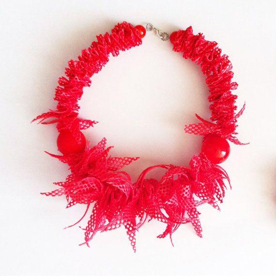 Collana con perle di Murano e gomma -murano glass necklace