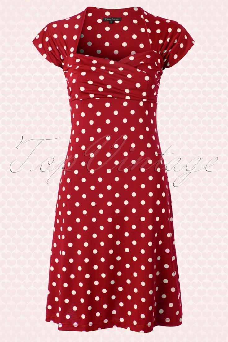 King Louie - 50s Ballroom Dress Polkadot in Red - For Candy's English High Tea themed bridal shower