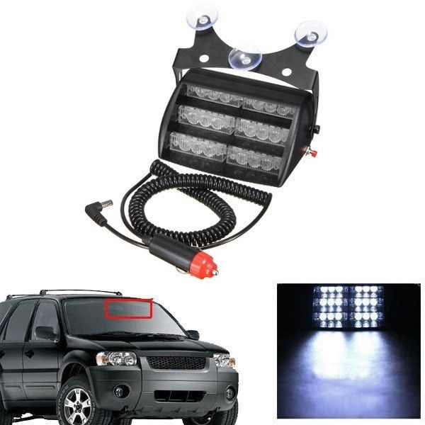 18LED Emergency Vehicle Warning Lights for Car Windshields Dashboard. 18led Emergency Vehicle Warning Lights For Car Windshields Dashboard    feature:  1. 3 Suction Cups Included.  2. With 3 Suction Cups, Easy To Install.  3. High Brightness And Long Service Life.  4. Adjustable Angle To Fit Different Screen.  5. Powered By  Lighter Outlet (12v).    specification:  color: Black  power: 2.1w  light Color: White  operating Voltage: Dc 12v  led Quantity: 18 (6 X 3 Rows)  dimension:11.5 X 8.7 X…