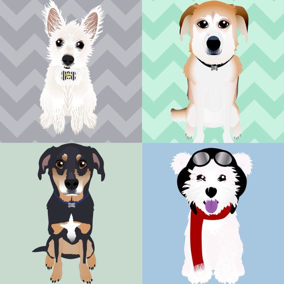 Custom Pet Illustrated Pillows Cartoon Pet by ConcordLaneCritters