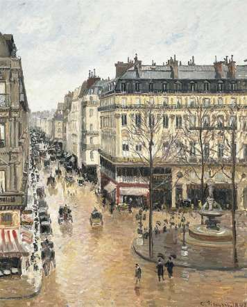 Rue Saint-Honoré por la tarde, efecto de lluvia 1897 de Camille Pissarro en el Museo Thyssen-Bornemisza de Madrid.