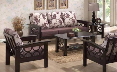 Image result for wooden sofa set