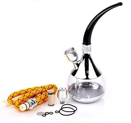 Zobo Multi-purpose Hookah Silver and Gloden - Color Sent out Randomly