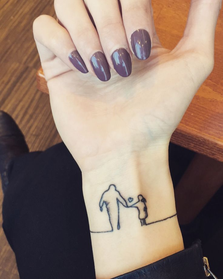 13 Tattoos For Dads With Daughters: Daughter Tattoo By @wiwiart