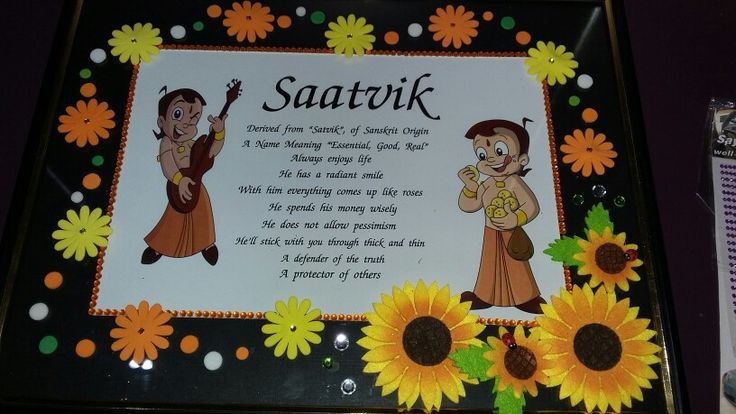 Personalised name frames with chota bheem theme