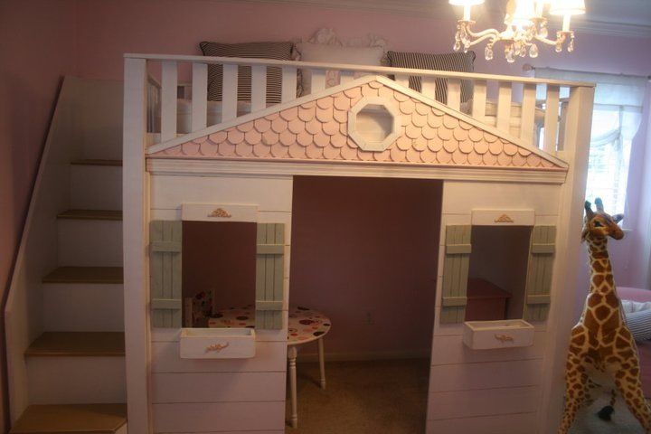 Children's playhouse bed | Kids room | Playhouse bed, Play ...