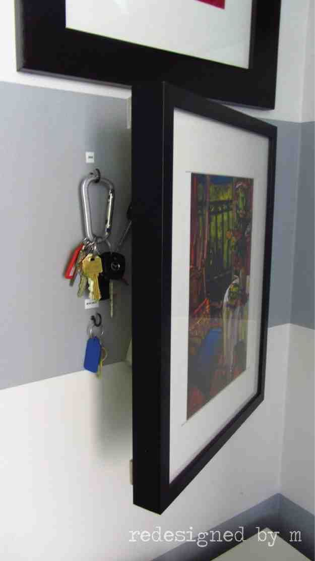 Hidden Key Storage | These Amazing DIY Storage Ideas Are Too Awesome For Words