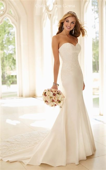 2016 Gorgeous Lace Fit & Flare #Wedding Dress. Sexy & Modern Beaded Lace & Satin Fit & Flare Mermaid Gown with a Sexy Strapless Sweetheart Neckline, Beaded Lace Fitted Bodice with Dropped Waist, Lightly Padded Bust and Boning, Fit & Flare Satin Mermaid Skirt, Beaded Illusion Lace Chapel Train, Back Covered Buttons. #2016weddingdresses #fitandflare #mermaid #laceweddingdress #gorgeousweddingdress #dreamwedding #bridalgown #beautifulbride #sayyestothedress #dreamdress #lacetrain #chapeltrain