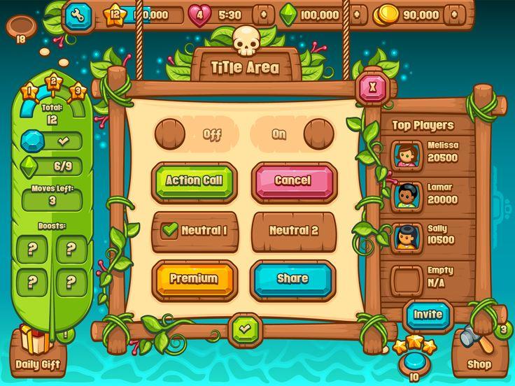 Ultimate casual game ui kit paradise lagoon full