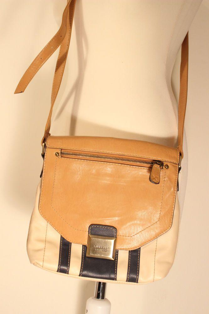 Fiorelli  Crossbody Travel Bag Beige Tan Blue Stripes  #Fiorelli #MessengerCrossBody